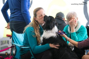 Breeder Alena gets some kisses of Aimee :)